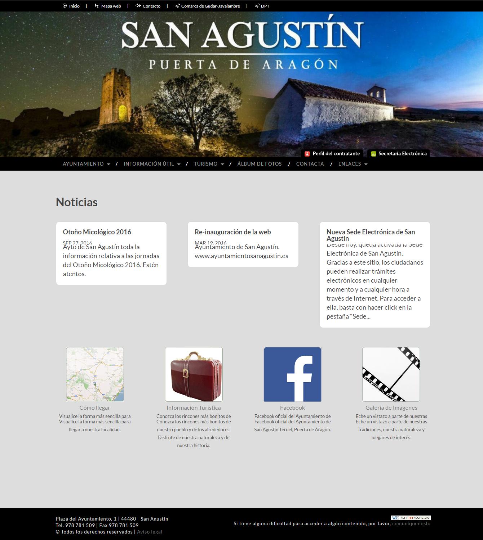 Re-inauguración de la web